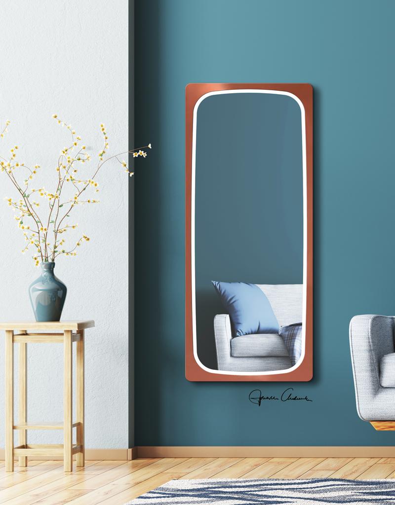 spiegel feloni led kupfer  spiegelkonzeptde